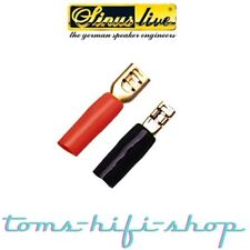 24x Kabelschuhe Boxen 1,5-2,5mm² Kabelschuhe Flachstecker Lautsprecher Stecker