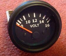 NEW VOLTMETER 52 MM Triumph, MG , Scimitar , Kit car. Project Black  Dial
