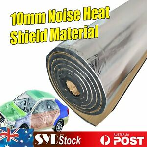 22Sqft Adhesive Heat Soundproof Sound Deadening 10mm Foam Insulation Auto Van
