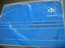 TEMPARIO GENERALE PIAGGIO - GILERA - PUCH  1995