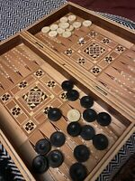 Syrian Marquetry Backgammon/ Draughts/ Chess (without Chess Pieces)