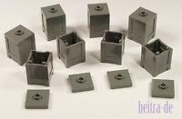 LEGO - 8 x Kiste 2x2x2 dunkelgrau mit Deckel / Box Container 61780 87580 NEUWARE