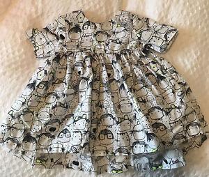 Alternative Check dress Baby Smock Girls Black White large gift Party Birthday