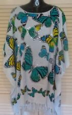 Butterfly Rayon Short Sleeve Tops & Blouses for Women
