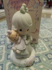 Precious Moments Figurine - Growing In Grace - Girl With Doll - Age 4