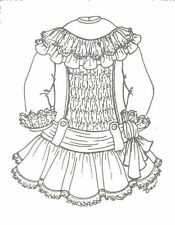 "22-24"" Doll Dress Pattern Victorian German French Antique vintage look 521"