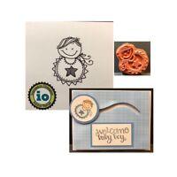 Baby Oliver Rubber Stamp D19760 Impression Obsession Cling Stamps boy image
