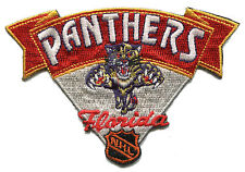 """FLORIDA PANTHERS NHL HOCKEY 4"""" BANNER STYLE TEAM LOGO PATCH RED VERSION"""