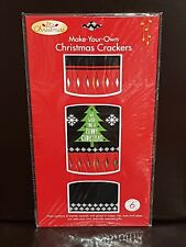 NEW - CHRISTMAS DIY CRACKERS BON BONS - TREE - 6 PIECES PER PACK - GREAT FUN!