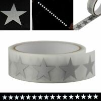High Visibility Safety Heat Transfer Vinyl Star Silver Reflective Iron On Fabric