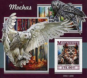 Mozambique 2015 MNH Owls 1v S/S Birds Great Horned Owl