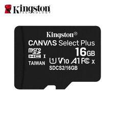 Neu Kingston 16GB MicroSD SDHC C10 UHS-I A1 Speicherkarte TF 100MB/s mit Adapter