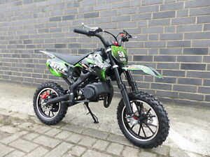 Pocketbike Dirtbike Pocket Cross 49cc Kinder Cross Crossbike KXD 708 Grün