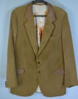 CORTEFIEL • Mens' Corduroy Jacket Coat Brown• Large 44 • Spain Bright Graphics