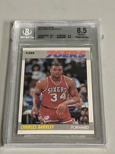 1987-88 Fleer Charles Barkley Is BGS 8.5 Philadelphia 76ers
