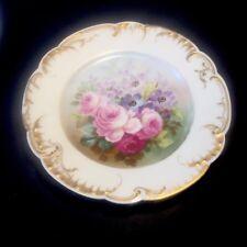 Assiette Haviland Porcelaine De Limoge Décor De Rose Peint XIXe
