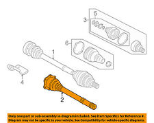 AUDI OEM Drive Axle-Front Suspension-Inner Joint Assembly Right 4D0407418F