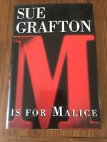 Sue Grafton, 1996 First Edition, First Printing, M is for Malice