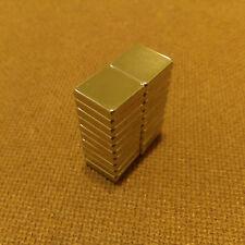20 N45 Neodymium 1/2 x 1/2 x 1/8 inches Block/Bar Magnet.