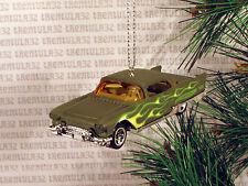 '57 CADDY 1957 CADILLAC ELDORADO BROUGHAM GREEN W FLAMES CHRISTMAS ORNAMENT XMAS