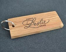 hotel wood and acrylic key fobs / tags