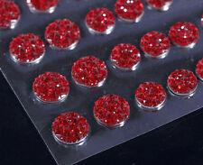 CB70R- 50 Self Adhesive RED Crystal Diamante Rhinestone Stick on Moon Rock Gems