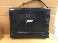 Karen Milan Black Leather Satchel Bag