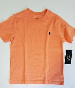 Polo Ralph Lauren Little Boys Jersey Crewneck T Shirt Orange Heather Sz 5 - NWT