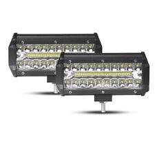 2X 7inch 150W LED Work Light Bar Flood Spot Offroad 4WD UTV SUV Driving Fog Lamp