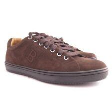p-145967 NUEVO Bally Chocolate Ante Zapatillas número Zapato US 8.5 Marcado 41.5