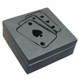 Cards - New Age, Lucky Black Stone Box, Trinket Storage, Ace of Spades Gift