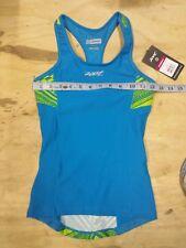 ZOOT Women's XS Performance Tri Top Racerback Blue Green TRIBAL Shirt Singlet