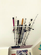 Ceiling Fishing Rod Storage Holder Wall Rods Rack Organizer 10 Rods