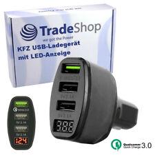 3-fach USB KFZ-Ladegerät Universal LED 4.2A für MP3-Player Navis LG Sony