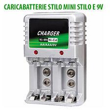 CARICA BATTERIE CARICATORE DA CASA 220 VOLT PER PILE AA / AAA / 9V AC 220V
