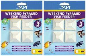 Lot Of 2 API Weekend Pyramid Vacation Feeder 3 Day Fish Food Holiday Travel