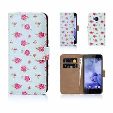 32nd Floral Design Book PU Leather Wallet Case Cover for HTC PHONES HTC U Play Vintage Rose MINT