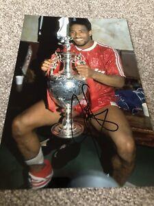 John Barnes Liverpool Hand Signed 12x8 Photo PROOF YNWA