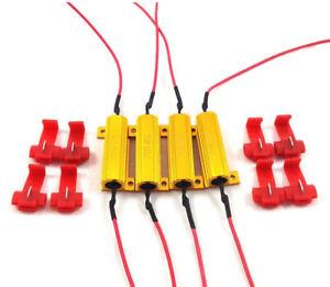 x4pc 50W 6 ohm Load Resistor Fix LED Bulb Fast Hyper Flash Turn Signal Blink M23
