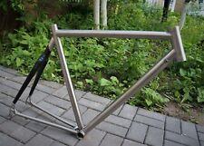 Custom made hybrid titanium and carbon road race frame