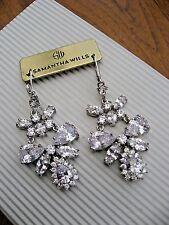 Samantha Wills Earring Bridal Crystal Gardenias Sound Chandelier Long NWT $179