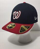 New Era 59FIFTY MLB Washington Nationals  Navy Blue Red Cap Hat Size 7 1/8