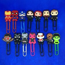 Avengers [Assemble] Bobblehead Paperclip Bookmark Marvel Iron Man Spider-Man NEW