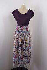 NWT Size L / 14 SADIE Ladies Maxi Dress Floral Lace Casual Boho Chic Long Design