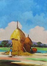 Renato NATALI, olio su tela, paesaggio, Livorno