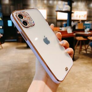 For iPhone 12 Pro Max 11 SE 2nd XR XS 7 8 Diamond Clear Silicone Soft Case Cover