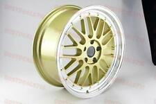 "19"" LM STYLE GOLD FACED LIP WHEELS RIMS FITS BMW 3 SERIES 328 330 335 XDRIVE"