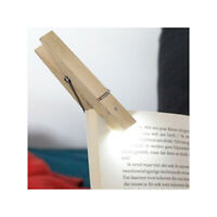 Kikkerland Reading Book Light Clothespin Clothes Peg Clip On Tablet Travel Gift