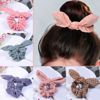 Cute Women Adjustable Bow Knot Hair Rope Ring Tie Scrunchie Ponytail Holder