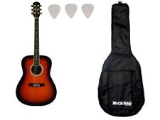 Eko Ranger 6 chitarra acustica Brown Sunburst + custodia rockbag + plettri om...